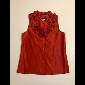 J.Crew Magenta Blouse with Collar Detail
